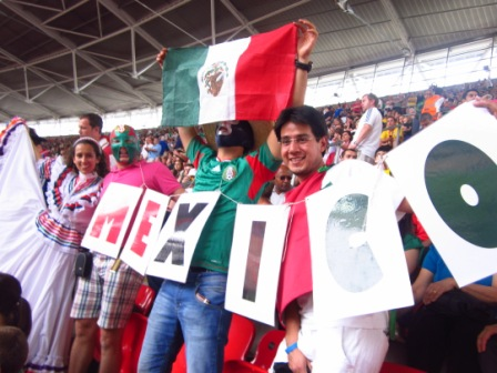 Fans of Mexico Football Finals London 2012
